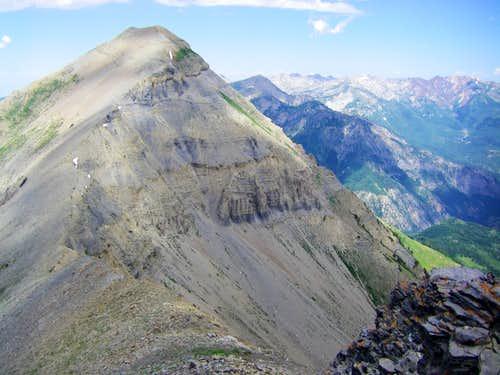 North Peak from Bomber Peak