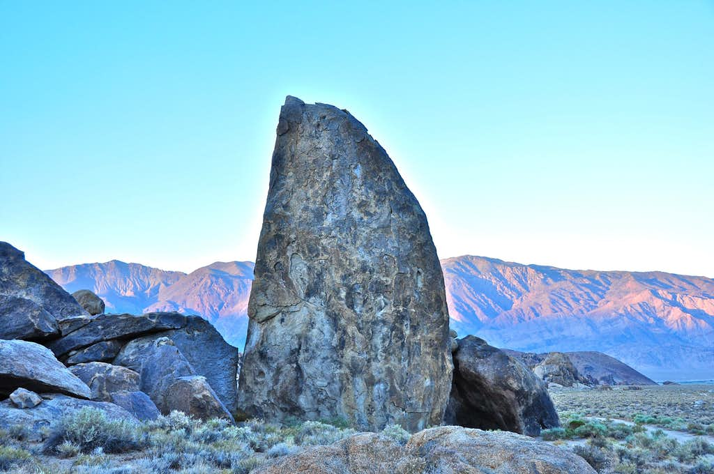 Shark's Fin with Inyo Mountains