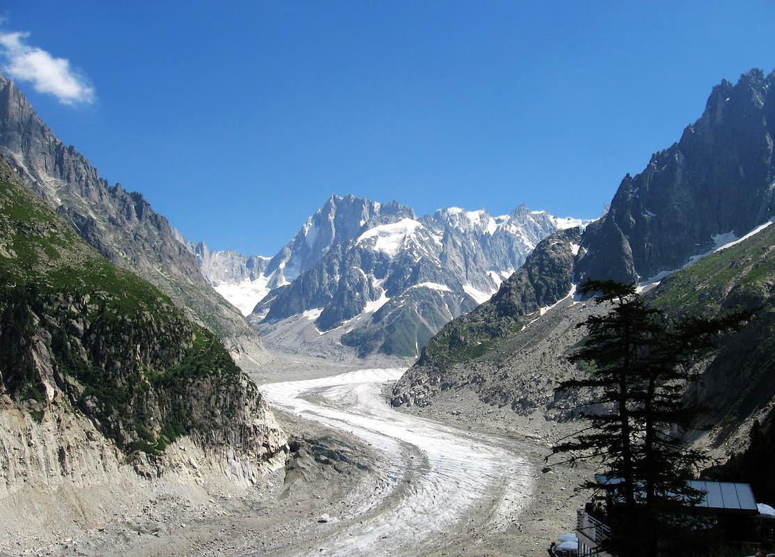 the mer de glace seen from montenvers photos diagrams topos summitpost. Black Bedroom Furniture Sets. Home Design Ideas