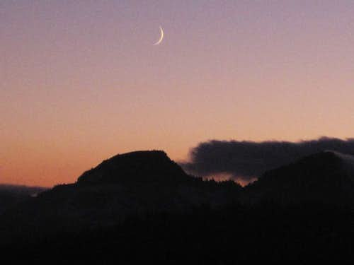 Crescent over Spray Park Twilight