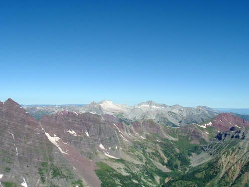 Snowmass Mt and Capital Peak