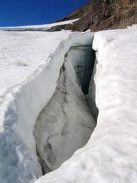 A crevasse on the Whitewater...