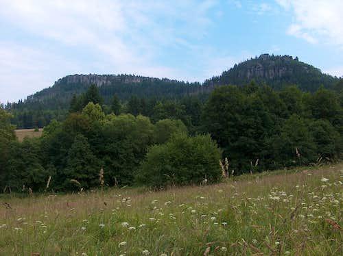 Szczeliniec Wielki from Pasterka - Góry Stołowe