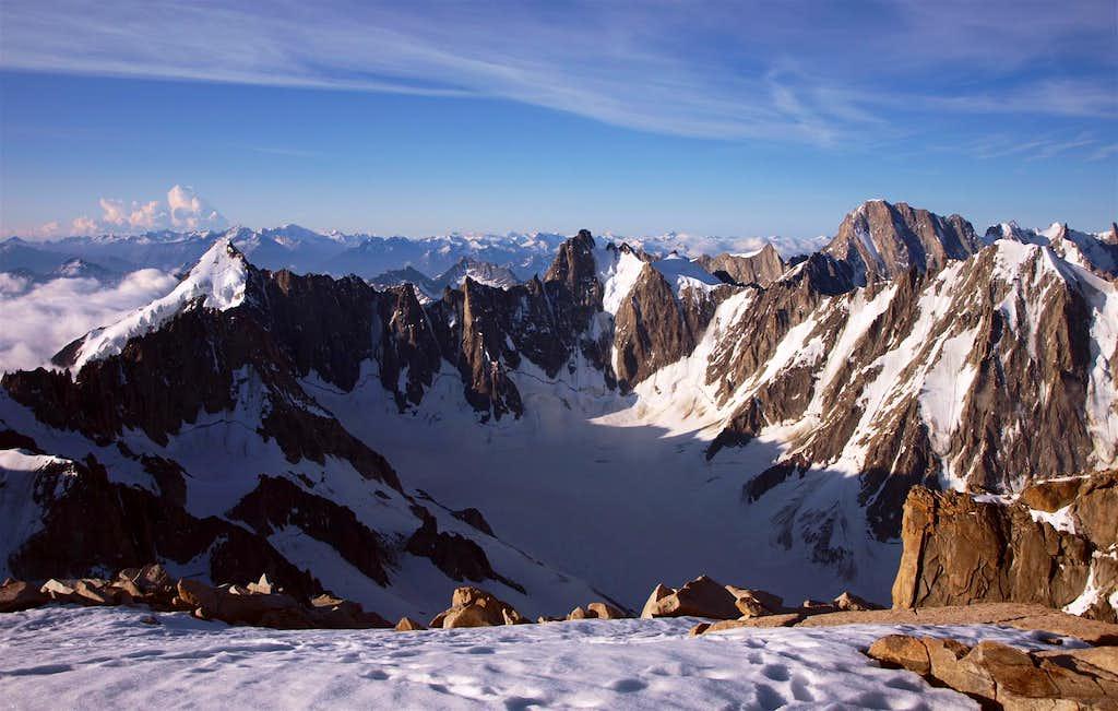 Mont Dolent, Aiguille du Triolet, Les Courtes, Grandes Jorasses