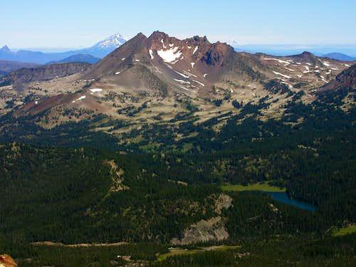 Broken Top flanked by Mt....