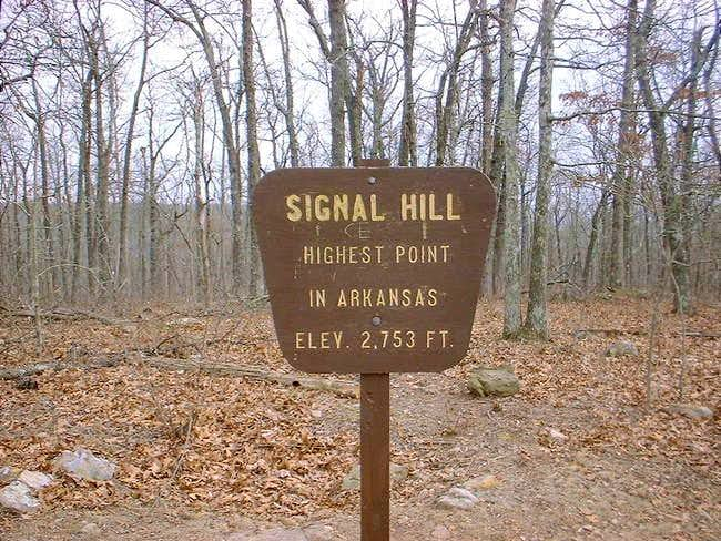 The old sign at the top. Last...