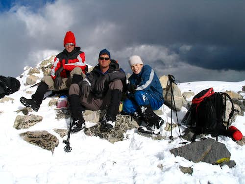 The summit of Culebra in winter