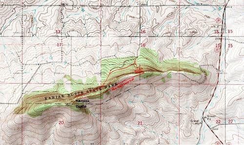 Kamiak Butte Trailmap