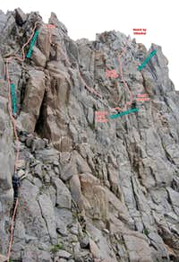 Crux section of Robinson s West Ridge