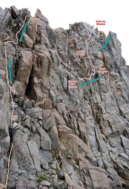 Crux section of Robinson\'s West Ridge