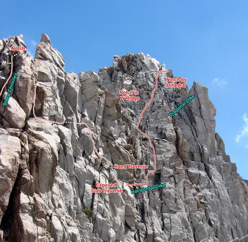 Last Half of Crux Section on Robinson\'s W Ridge
