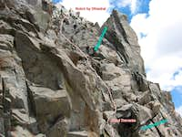 Final Crux Section on Robinson s W Ridge