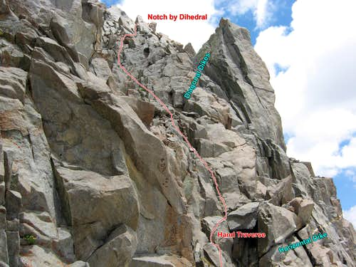 Final Crux Section on Robinson\'s W Ridge