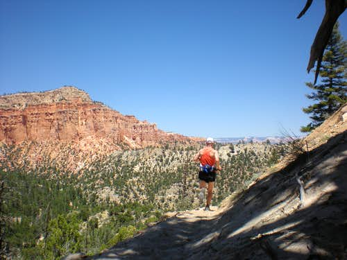 Craig running Bryce Canyon