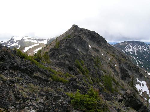 Looking back at South Ridge