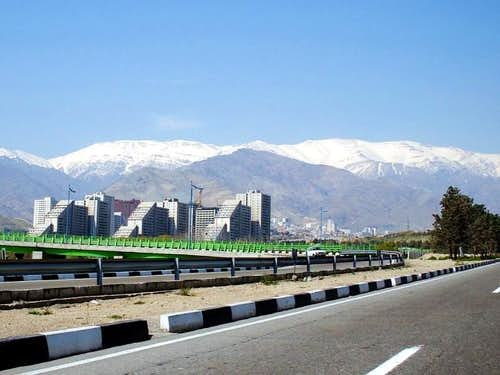 Tehran and Mt. Tochal,...