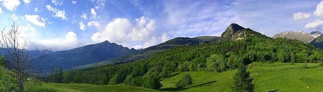 Panorama dal Col d'Arlaz
