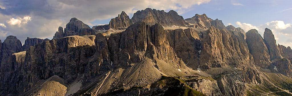 Sella group in late afternoon...