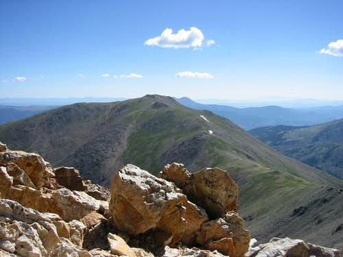 Looking down the ridge...