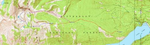 Koch Mountain Topo