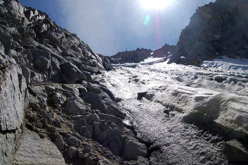 North Couloir Ice and Avalanche Crown