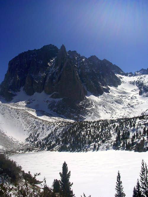 NE Aspect of Temple Crag in Winter