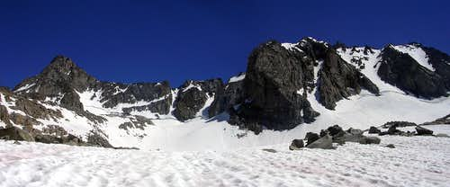 North Couloirs Panorama