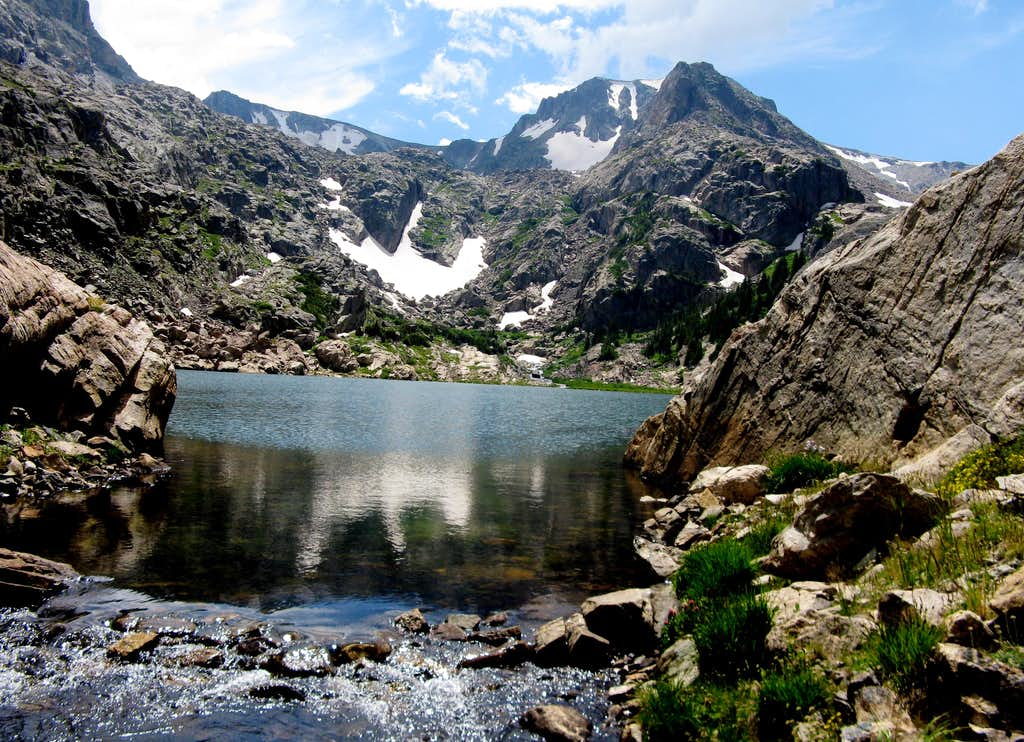 Ouzel Peak from Bluebird Lake