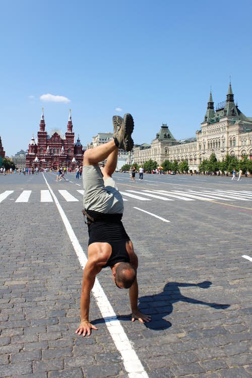 Handstand on Red Square