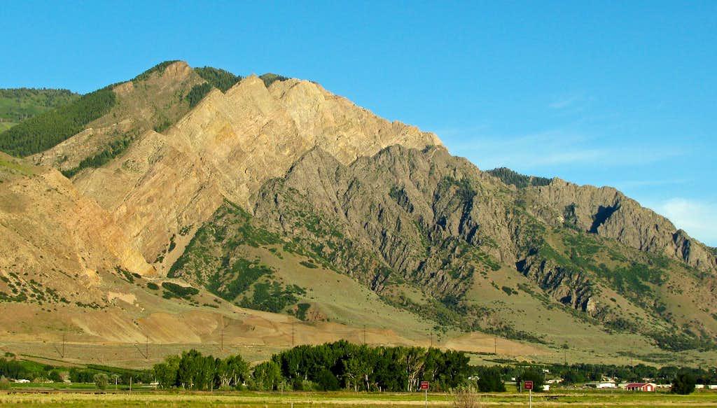 Willard Peak rock colors