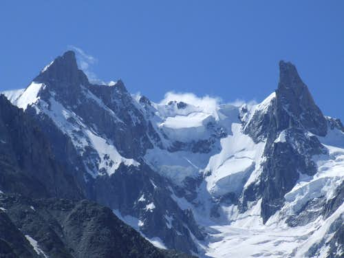 Rochefort Ridge with Dent du Geant