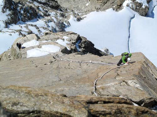 Burgener Slabs on the Dent du Geant
