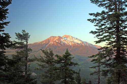Last light on Shasta