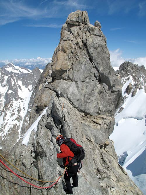 Climb to Pointe Graham on the Dent du Geant