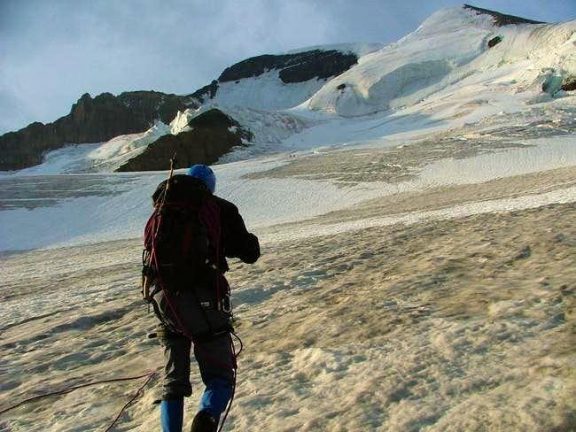 heading up the glacier 5:00...