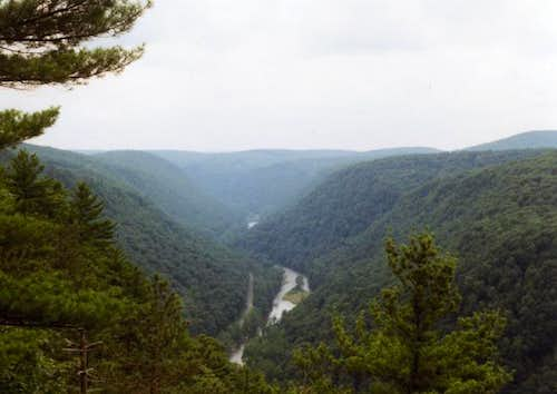 Looking south into the canyon...