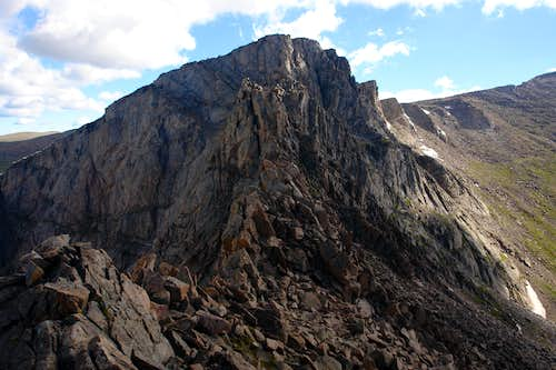 Sawtooth: approaching the lowest point of the saddle