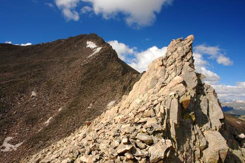 Sawtooth: looking back at Mount Bierstadt