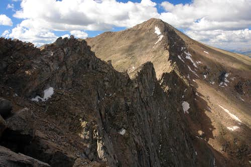 Sawtooth: looking back from the exit ledge