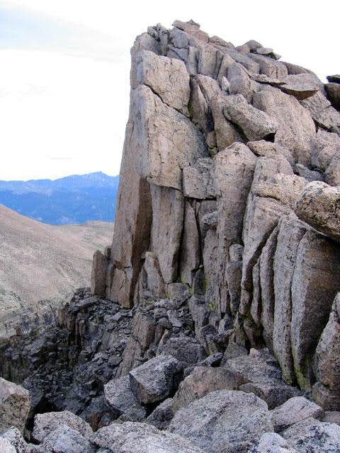 Interesting rock near the top...