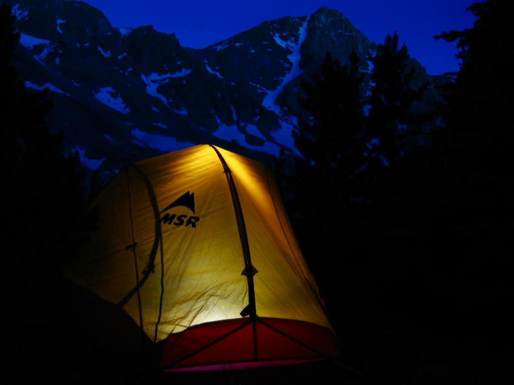 Whitetail Peak camp