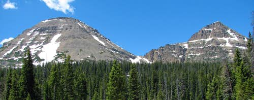 Bald Mountain and Reids Peak