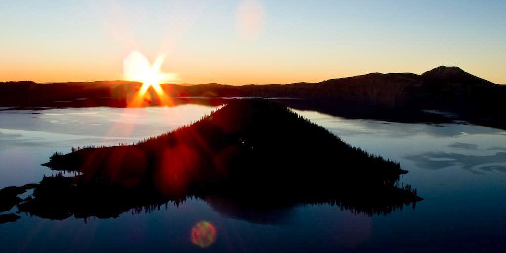 Mt. Scott & Wizard Island Sunrise