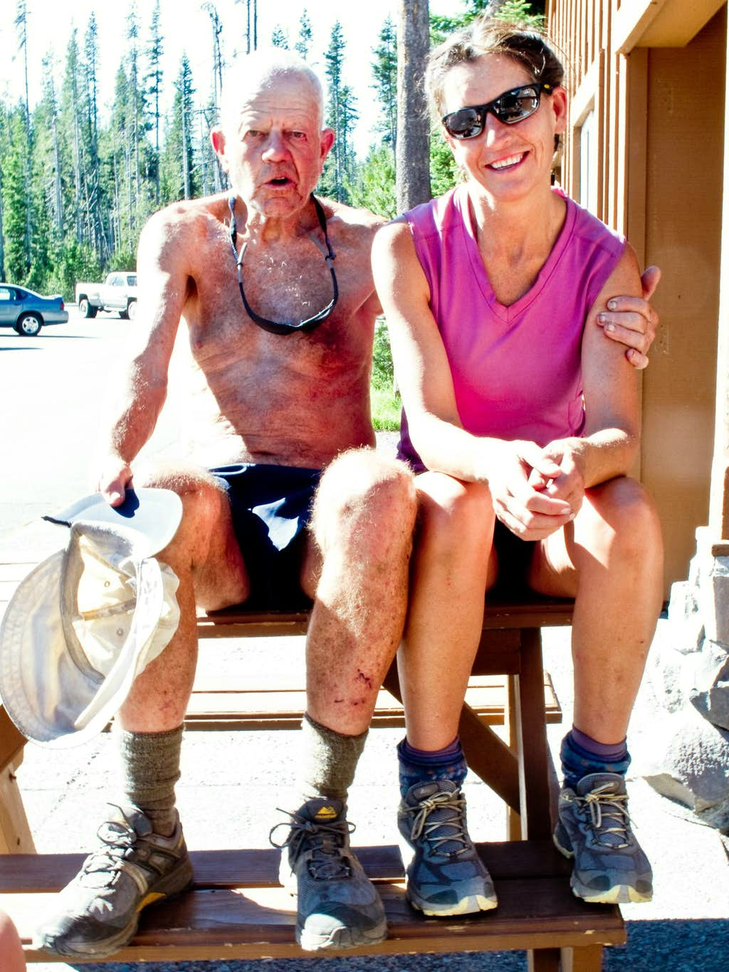 Post Hike Rest at the Mazama Store
