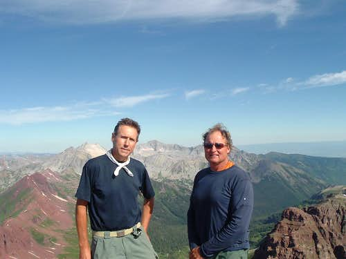Myself & Grant on the Summit of Maroon Peak