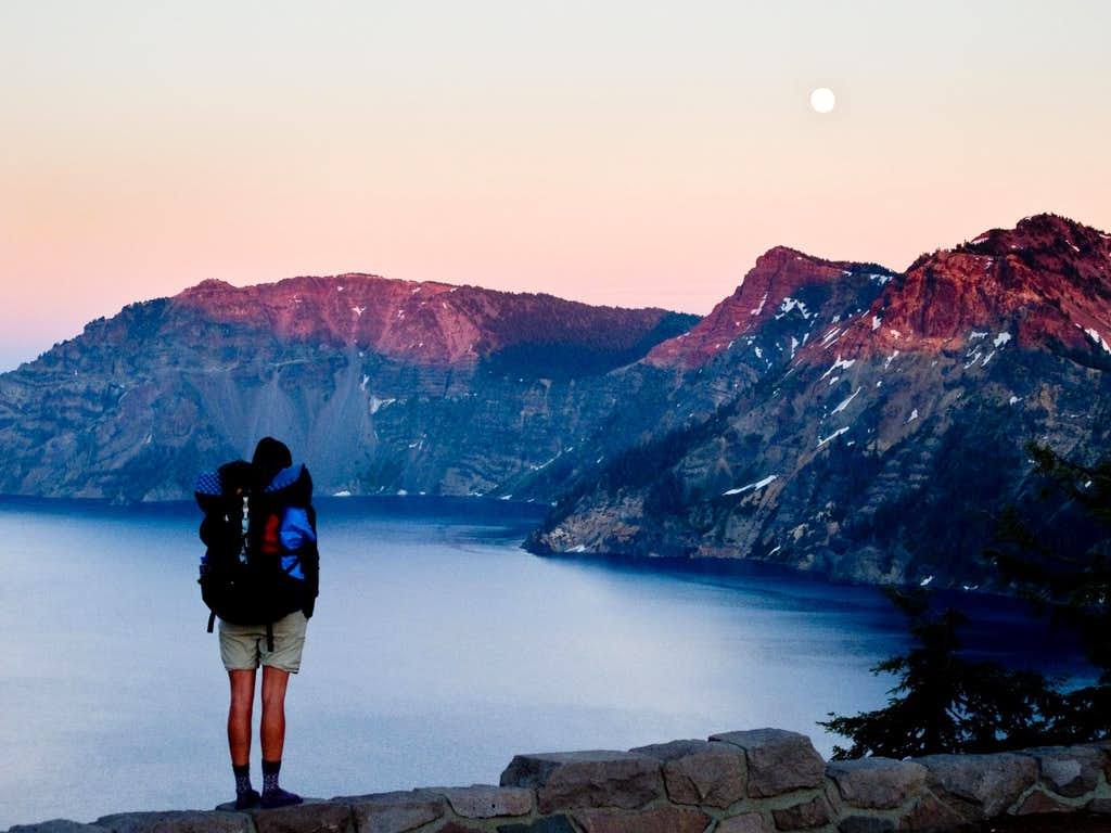 If I M The Sun And You Re The Moon The Day Ain T Done: Full Moon Over Crater Lake : Photos, Diagrams & Topos