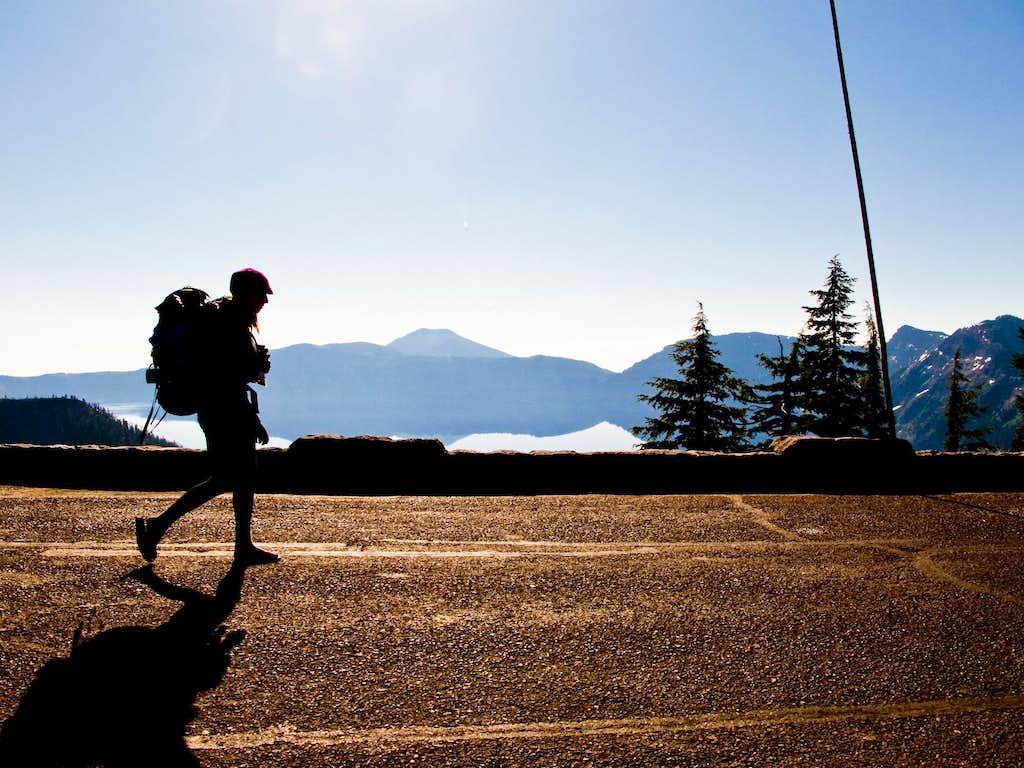 Rim Hiker and Mount Scott