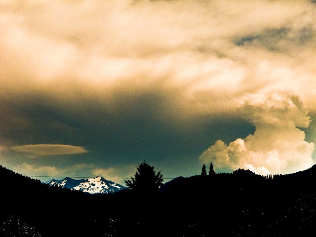 Thunderstorm Over Diamond Peak