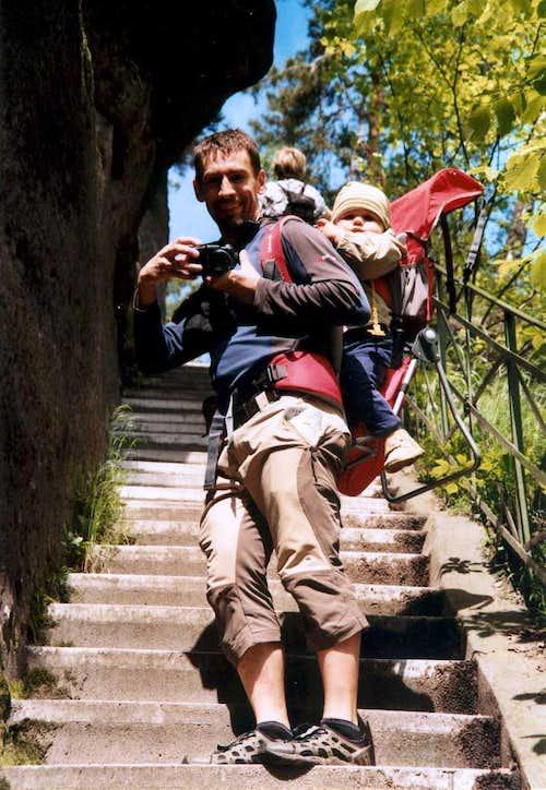Nicolas and me on the trail to Pravčická brána