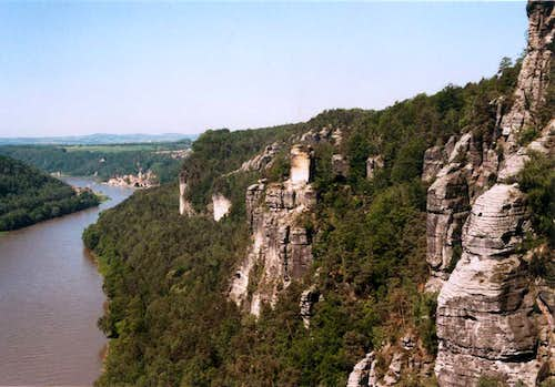 On the Bastei trail, by Dorota